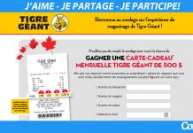 Concours Sondage Tigre Geant (TigreGeant.com/Sondage)