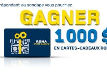 Concours Opinion Rona (Opinion.Rona.ca)