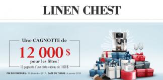 Concours Une Cagnotte De 12 000$ Pour Les Fêtes De Linen Chest