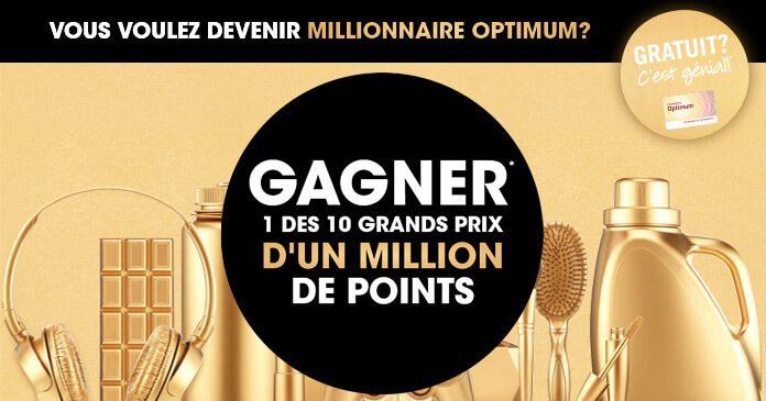 Concours Millionnaire Pharmaprix Optimum (Pharmaprix.ca/Millionnaire)