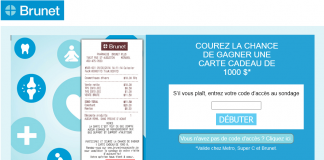 Concours Sondage Brunet Vous Ecoute (BrunetVousEcoute.ca)