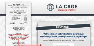 Concours Sondage La Cage Brasserie Sportive (Cage-Satisfaction.ca)