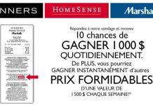 Concours Sondage TJX Canada Opinion (TJXCanada-Opinion.ca)