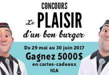 Concours Le Plaisir D'un Bon Burger De IGA