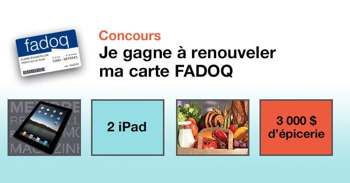 Concours Je Gagne À Renouveler Ma Carte FADOQ