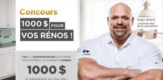 Concours TVA 1 000 $ Pour Vos Rénos