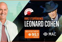 Concours Vivez l'Expérience Leonard Cohen