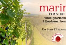 Concours Marina Orsini Virée Gourmande à Bordeaux Fronsac