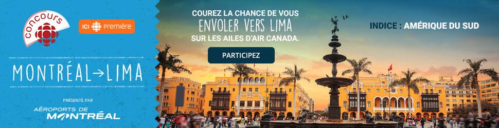 Indice Concours Ici Radio-Canada Première Montréal-Lima