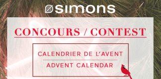 Concours Calendrier de l'Avent Simons 2017