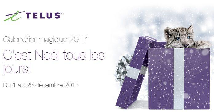 Concours Telus Calendrier Magique 2017