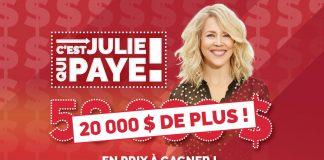 Concours 105.7 Rythme FM C'est Encore Julie Qui Paye!