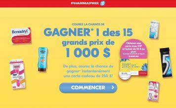 Concours Printemps de Pharmaprix
