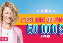 Concours 105.7 Rythme FM C'est Julie Qui Paye!