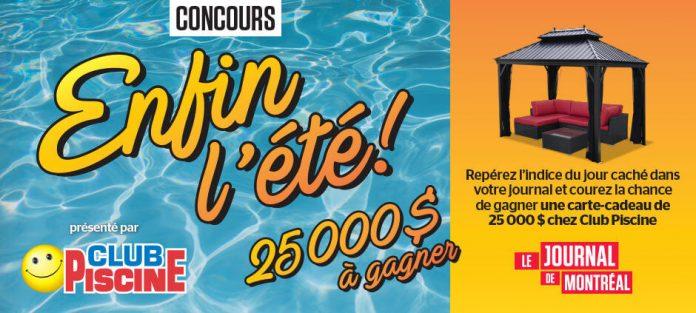 Concours Journal de Montréal Enfin l'Été