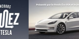Concours IGA Roulez En Tesla