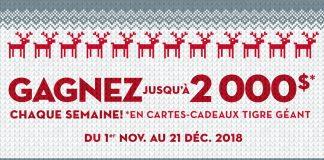 Concours de Noël 2018 de Tigre Géant