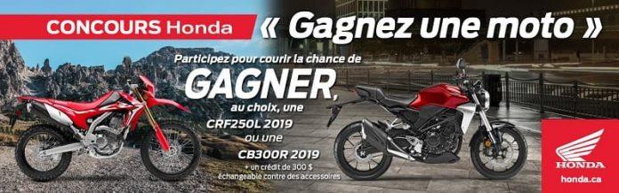 Concours Honda Gagnez Une Moto