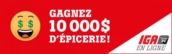 Concours IGA Gagnez 10 000$ D'épicerie