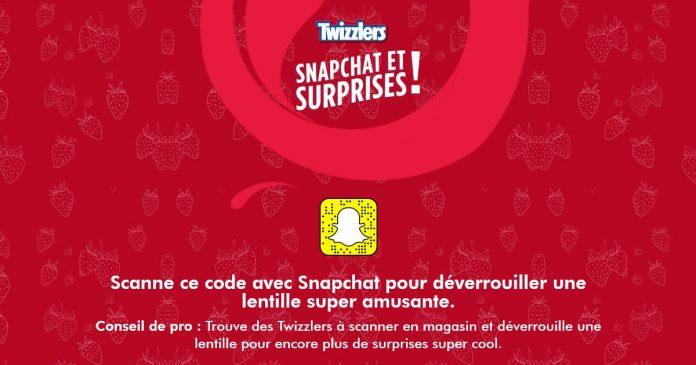 Concours Twizzlers Snapchat et Surprises