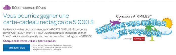 Concours AIR MILES Utilisez Vos Milles Et Voyagez