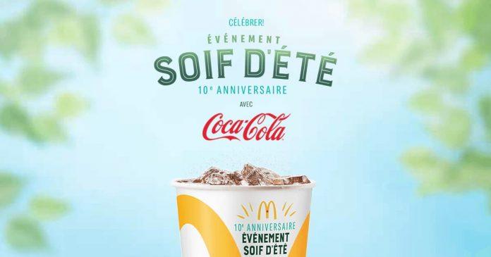 Concours McDonald's Événement Soif d'Été