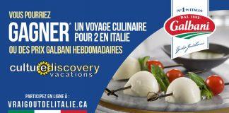 Concours Fromage Galbani Le Vrai Goût de l'Italie