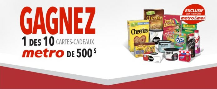 Concours Metro General Mills