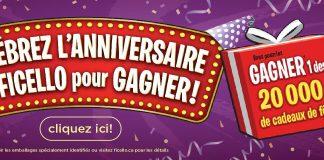 Concours Célébrez l'Anniversaire de Ficello pour Gagner