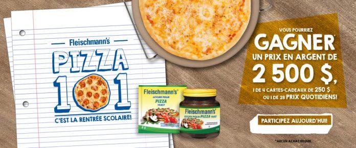 Concours Fleischmann's Pizza 101