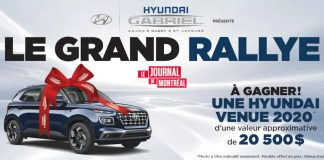 Concours Journal de Montréal Le Grand Rallye 2020