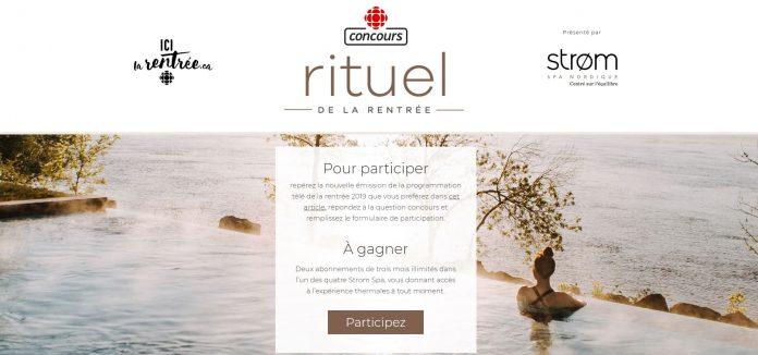 Concours Radio-Canada Rituel de la Rentrée