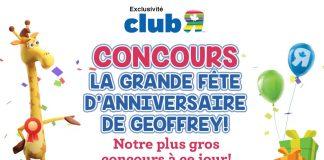 Concours Toys R Us Grande Fête d'Anniversaire de Geoffrey