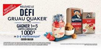 Concours Défi Quaker Oats