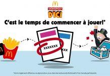 Concours McDo Monopoly 2019