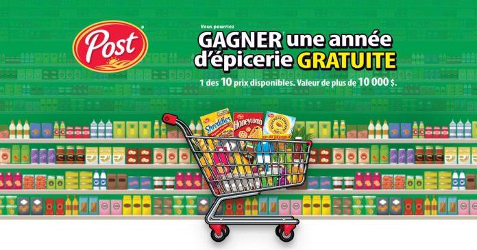 Concours Post Foods Une Année d'Épicerie Gratuite