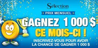Concours Sélection du Reader's Digest Prix Mensuel