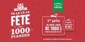 Concours Marché Richelieu Fa La La La Fêtes Avec 1000 Piasses