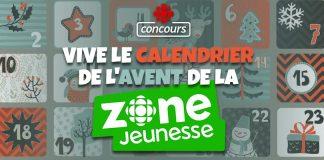 Concours Radio-Canada Calendrier de l'Avent de la Zone Jeunesse
