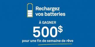 Concours Rechargez Vos Batteries de CAA-Québec