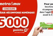 Concours Metro Chèque Récompense Numérique