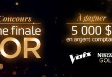 Concours TVA La Voix Une Finale En Or