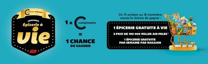Concours Epicerie A Vie IGA