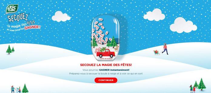 Concours Tic Tac Secouez La Magie Des Fêtes