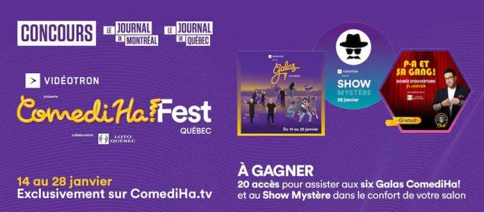 Concours Journal De Montréal/Québec COMEDIHA! FEST