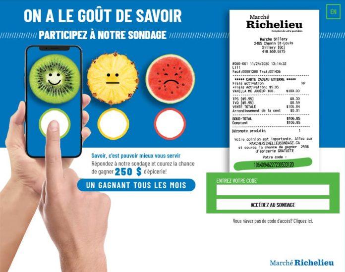 Concours Marché Richelieu Sondage (MarcheRichelieuSondage.ca)