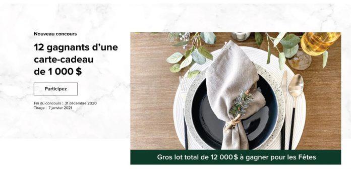 Concours Linen Chest Gros Lot Des Fêtes