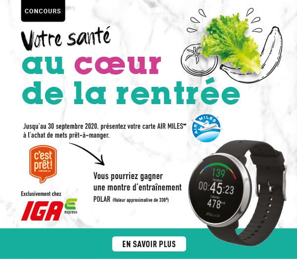 Concours IGA Votre Santé Au Coeur De La Rentrée